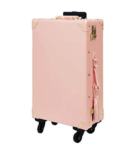 H-TRAVEL スーツケース キャリーケース SUITCASE 旅行 出張 20インチ 皮革スーツケース Tasssel Carrier Pink(海外直送品)   B07QN73XC7