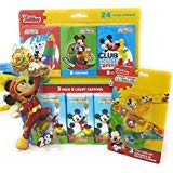 Tissue Crayons - Back to School Toddler Pre-school Elementary School Supplies Crayon Tissue Pencil Pouch Ruler Eraser Mickey Mouse 13 Piece Set