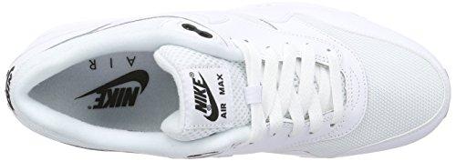 Nike Mens Air Max 1 Väsentliga Vit / Vit / Svart Löparsko 7 Kvinnor Oss