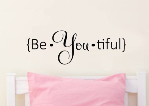 Imprinted Designs Be.You.Tiful Vinyl Wall Decal Sticker Art