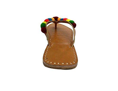 pour Style Marron Camel femme n Tongs Step wfqT5tX