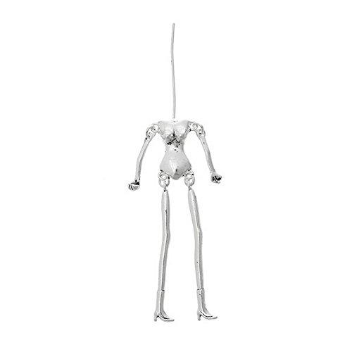 - ZARABE 5pcs Charms Jewelry Necklace Pendants Human Body Fit DIY Doll