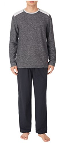 Tommy Bahama Men's Pajama Set, Crew Neck Top and Drawstring Pant, Black