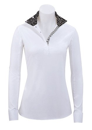 RJ Classics Rebecca Ladies Long Sleeve English Show Shirt With Horseshoe Trim (X-Large)
