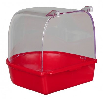 Trixie Bird Bath for Caged Birds Aviary Birds Budgie Lovebirds Finches Canaries (Red) Trix-ie
