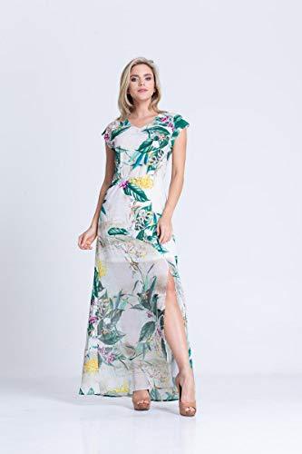 Vestido Clara Arruda Detalhe Costa Estampado 50323 - P - Floral Branco