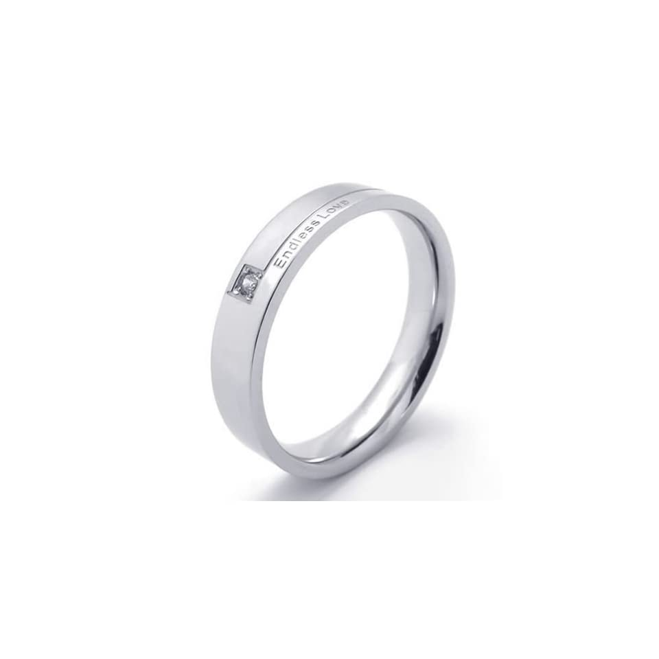 """KONOV Jewelry Classic Mens Womens Stainless Steel Promise Ring """"Endless Love"""" Couples Wedding Bands KONOV Jewelry Jewelry"""
