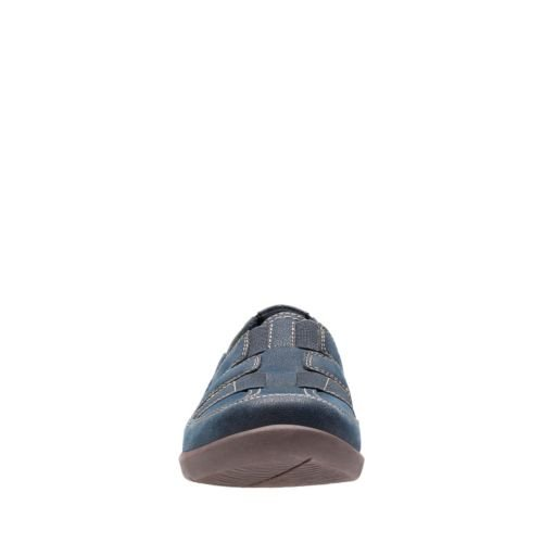 Clarks 5 Us Sillian Navy M 7 Stork Fisherman Sandal Women's PPr4wqU