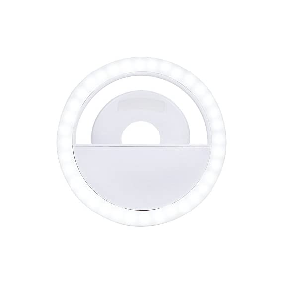 KAMII Selfie Ring Light - 3-Level Brightness Selfie Light LED for iPhone 7 Plus/ 6S Plus/ 6S/ 5S, Samsung Galaxy S8 Plus/ S8/ S7 Edge/ S7 and Smartphones/ Tablets, Great for Applying Make Up 2 3 LIGHT SETTINGS - Adjustable from light to super bright. Great for selfies and nighttime. Portable, super light-weighted, just put it in your bags or even in your pockets. - Made from high quality plastic and LEDs, Lightsome and functional plastic, durable and shockproof.