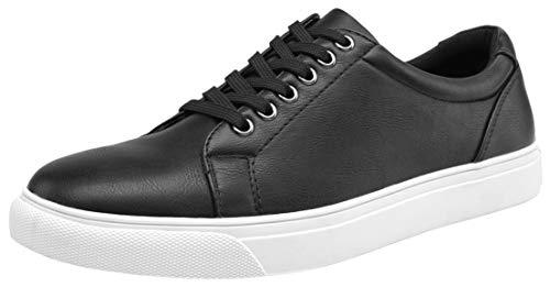 VOSTEY Men's Fashion Sneakers Classic Casual Shoes for Men (8,Black) ()
