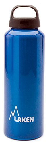 Laken Classic Water Bottle Wide Mouth Screw Cap with Loop - 25oz, Blue
