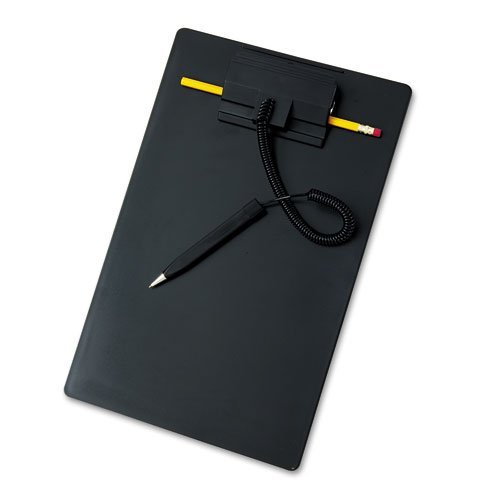 MMF Industries Products - MMF Industries - Wedgy Board, Holds 8-1/2w x 11h, Black - Sold As 1 Each - Wedge-shaped pen. - Pen's coil retracts to less than 6 inches. - Spring-loaded clip holds Wedgy refillable pen and a #2 pencil. - Letter size clipboard hangs from hook or nail. -