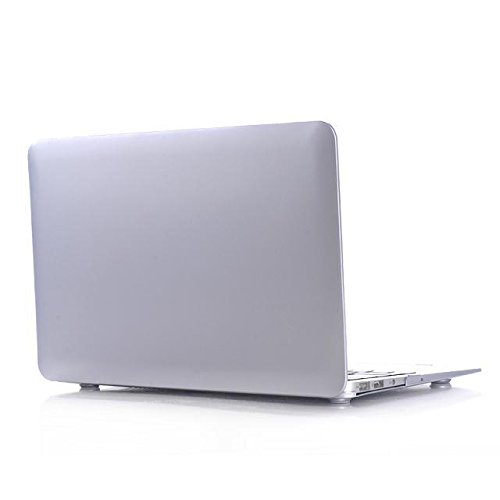 (HQF Silver Laptop Hard Shell - Protective Hard Shell Case Cover for Apple 11-inch MacBook Air 11.6