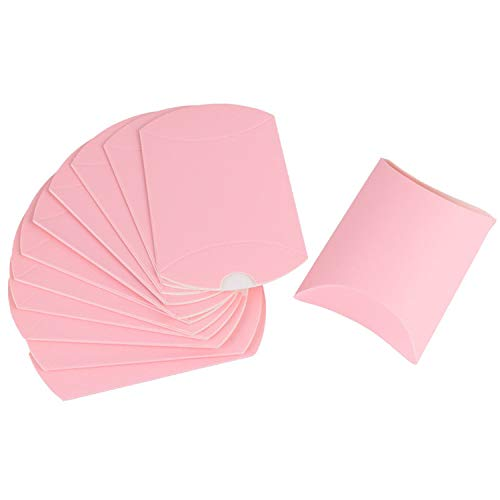10Pcs Pillow Shape Kraft Jewelry Candy Box Craft Paper Wedding Favor Gift Boxes Pie Party Box Bags Eco Friendly,Light Pink]()