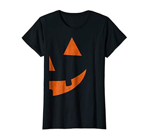Womens Jack O Lantern T-shirt Jackolantern Couple Halloween Costume XL Black -