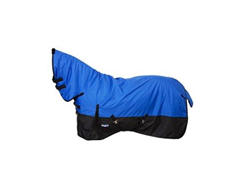 600 Denier Turnout Blanket (Tough 1 600D Waterproof Poly Full Neck Turnout Blanket, Royal Blue, 81