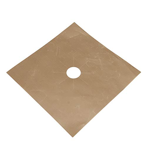 Yu2d  1PCS Reusable Gas Range Stove Top Burner Protector Liner Cover for Cleaning(Brown) for $<!--$1.34-->