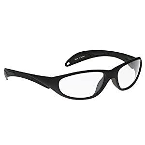 Plastic Clip on Flip up Sunglasses, Polarized Grey, Large Rectangle, 64mm Wide X 56mm High (147mm Wide) - Shade Control G-Clips