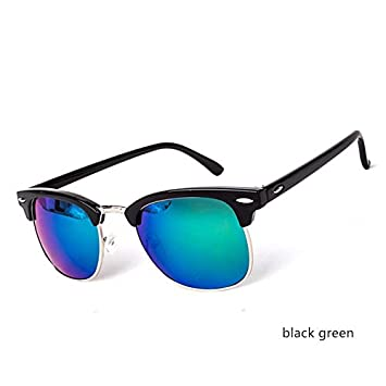 Amazon.com: Skuleer - Half Metal Sunglasses Men Women Brand ...
