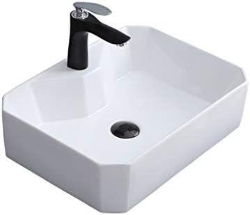 DS- (タップなし)バスルームの洗面台、正方形セラミック上記カウンタ流域ホテル浴室シンク技術の単一流域、2つのサイズの数 洗面ボール && (Size : 50X37X14cm)