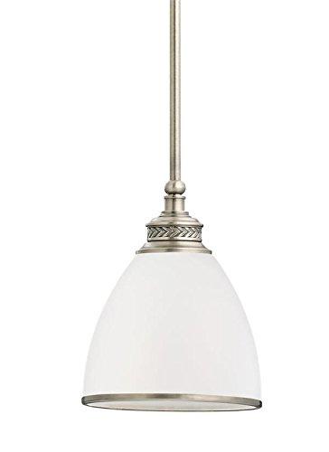 (Sea Gull Lighting 61350EN3-965 One Light Mini-Pendant Antique Brushed)