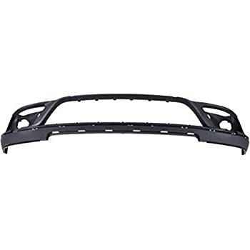 Black For Cherokee 14 Plastic CAPA Front Bumper Trim