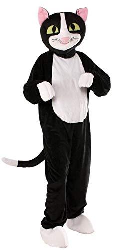 Forum Novelties Men's Catnip The Cat Plush Mascot Costume, Black, One Size ()