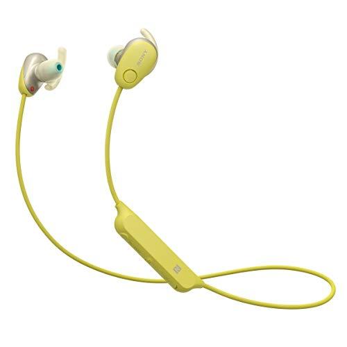 (Sony SP600N Wireless Noise Canceling Sports In-Ear Headphones, Yellow (WI-SP600N/Y) (Certified Refurbished))