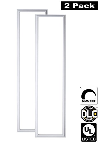 7 Flat Panel (Luxrite LR24048 (2-Pack) 45W 1x4 FT LED Panel, Dimmable, Bright White 5000K, 4200 Lumens, 12x48 Inch, UL-Listed, DLC-Listed (Eligible for Rebate)