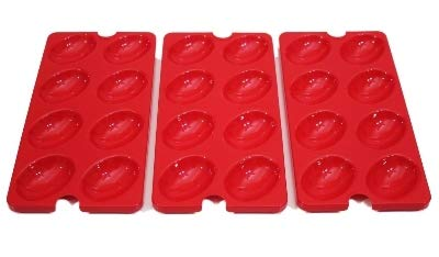 Tupperware Deviled Egg Tray Inserts, Set of 3, Holiday ()