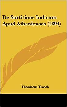 de Sortitione Iudicum Apud Athenienses (1894)