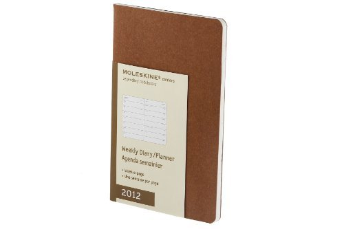 Moleskine 2012 12 Month Cahier Weekly Planner Terracotta Pocket (Moleskine Legendary Notebooks (Calendars)) by Moleskine ()