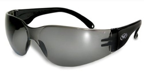 Safety Glasses Motorcycle Sunglasses - Global Vision Eyewear Rider Safety Glasses, Smoke Tint Lens