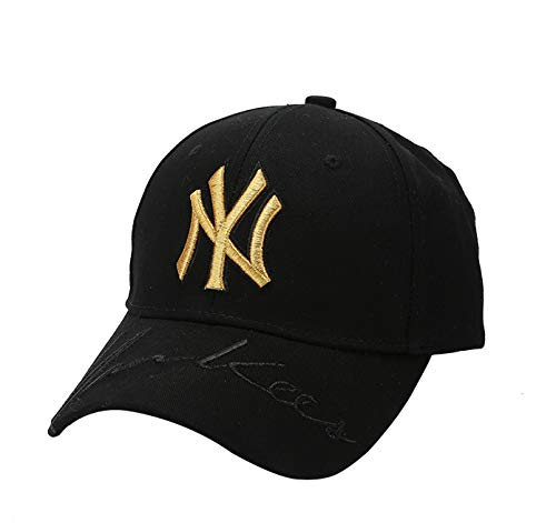 Unisex MLB Yankees Baseball Cap - Adjustable New York Fashion Hip Hop Hat with Embroidery Classical Black