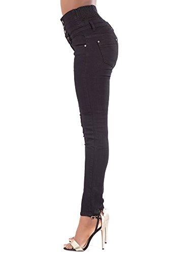 Basic Skinny Lustychic Jeans Donna Black 6fxaEqwP