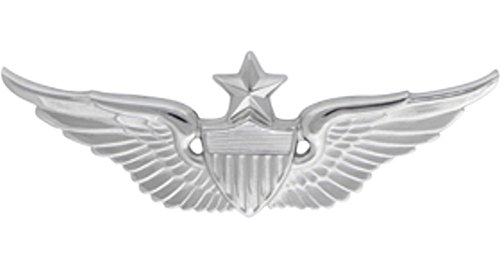Aviator Senior Badge Metal Insignia - NON SUBDUED - Full Size
