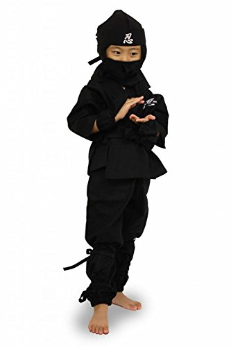 [Edoten Jananese Ninja Uniform kids Black110] (Female Secret Agent Costumes)