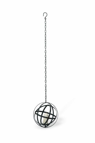 Foreside Home and Garden Hanging Orb Votive Holder, Small - Hanging Votive Lanterns