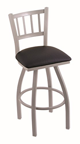 Holland Bar Stool Company 810 Contessa 25-Inch Counter Stool with Anodized Nickel Finish, Black Vinyl Seat and 360 Swivel from Holland Bar Stool Company