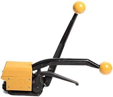 梱包機,ポータブル 省力 簡単操作 マニュアルフリーバックルスチールストラップベーラーフリーバックルベーラースチールメタルベーラー工場 業務用 (Size : A)