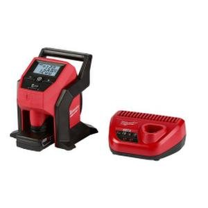 Milwaukee M12 12-Volt Lithium-Ion Cordless Compact Inflator Kit W/4.0Ah Battery & Charger (Milwaukee Compact)