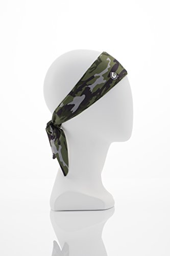 GymWrap Seemliness Headband Featuring Sweat-Wicking Patented EvapoTech Perfect for Working Out, Active Lifestyle, Yoga, Running, and Outdoors by Nicole Ari Parker - Camo