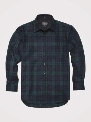 Pendleton Men's Long Sleeve Button Front Classic Lodge Shirt, Black Watch Tartan-30069, LG by Pendleton