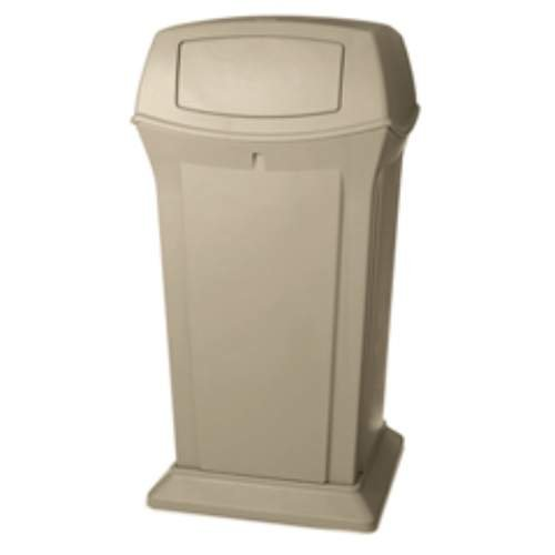 65 Gallon Ranger Container - RCP9175BLA - Ranger Fire-safe Container, Square W/2 Doors, Structural Foam, 65 Gal, Black