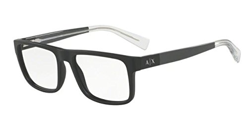Armani Exchange AX3035F Eyeglass Frames 8078-54 - Matte Black - Optical Armani Glasses