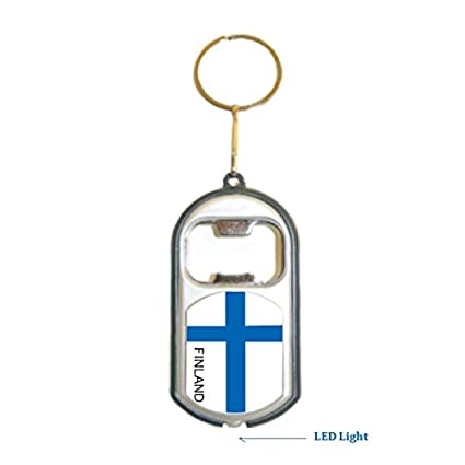 Amazon.com: Finlandia bandera 3 en 1 abrebotellas Luz LED ...
