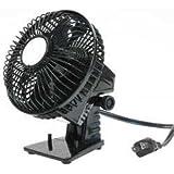 Dayton 6MPR0 Compact Table Fan, 160 CFM, Black