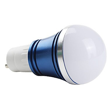 ZQ Modern LED bulb light Bombillas Globo A GU10 W 3 LED de Alta Potencia 270 LM 6000K K Blanco Natural AC 85-265 V, Oro - - Amazon.com