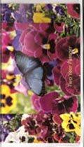 2019-2020 Two Year Planner with memo pad- Pansy Butterfly