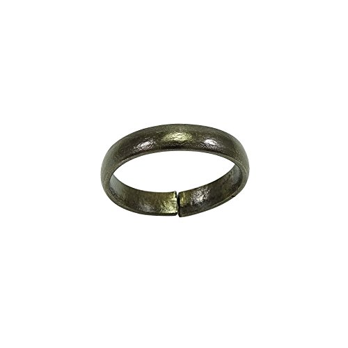 Banithani Handcrafted Indian Pure Iron Ring Saturn Shani Black Challa Fashion Jewelry Photo #3